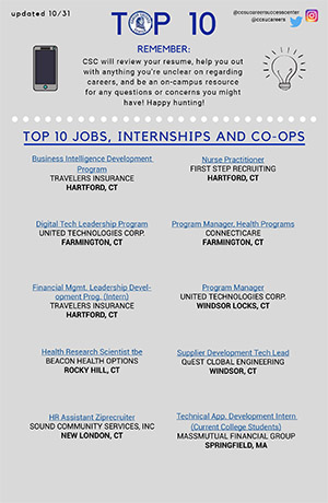 CSC - Top Jobs, Co-ops, and Internships