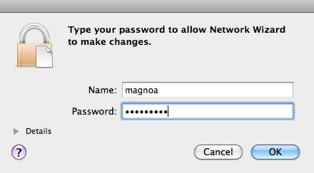 mac local account dialog box