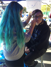 Facepainting at Homecoming